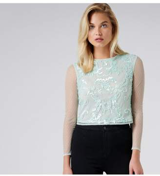 Ever New Audrey Embellished Dobby Top
