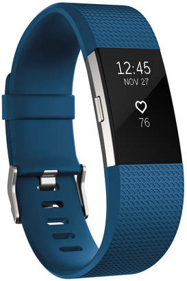 Fitbit Charge 2 Heart Rate + Fitness Wristband (Blue/Silver) - Small