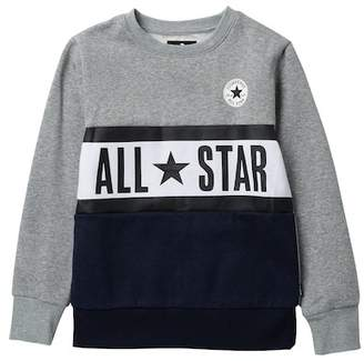 Converse Paneled Crew Sweater (Big Boys)