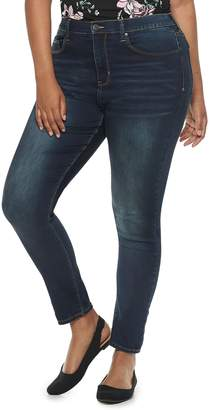 Mudd Juniors' Plus Size High-Waisted Ankle Jeggings