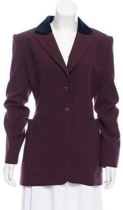 Hermes Wool Velvet-Trimmed Blazer