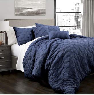 Lush Decor Ravello Pintuck 5-Piece King Comforter Set Bedding