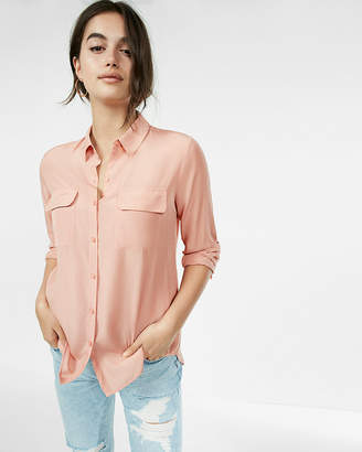 Express Solid City Shirt
