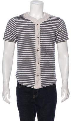 Matiere Linen-Blend Striped Shirt