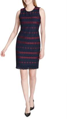 Calvin Klein Collection Patterned Sheath Dress