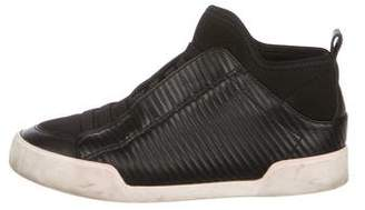 3.1 Phillip Lim Ribbed Leather Slip-On Sneakers