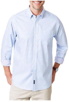 NEW Gazman Smart Double Faced Check Long Sleeve Shirt Blue