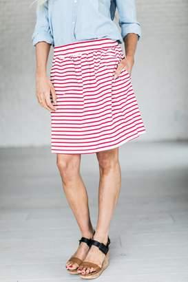 Bar Harbor Skirt - Red Stripe $32.99 thestylecure.com