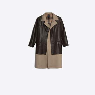 Balenciaga Cotton canvas paneled soft calfskin coat
