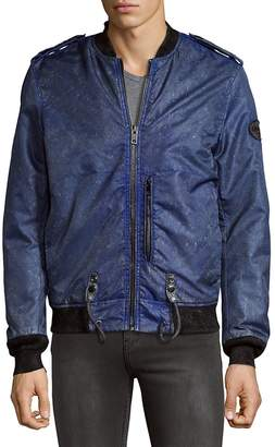 Diesel Men's Designed Bomber Jacket