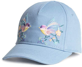 H&M Cotton Cap with Embroidery - Blue