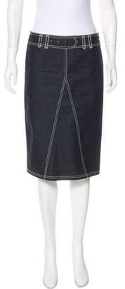 Philosophy di Alberta Ferretti Denim Knee-Length Skirt