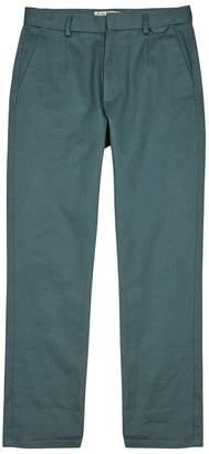 Acne Studios Andrew Bottle Green Twill Trousers