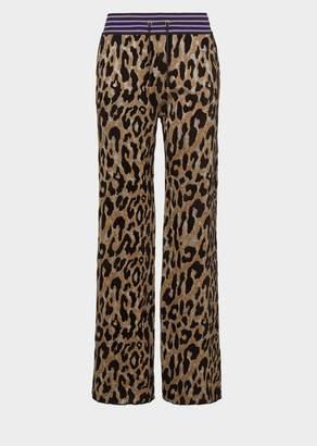 Versace Animalier Knit Sweatpants