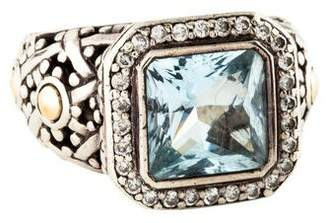 John Hardy Topaz & Diamond Cocktail Ring