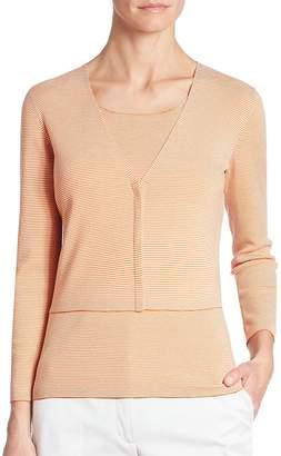 Akris Women's Wool Cropped Cardigan