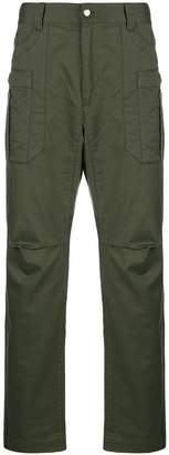 White Mountaineering stretch tapered cargo trousers