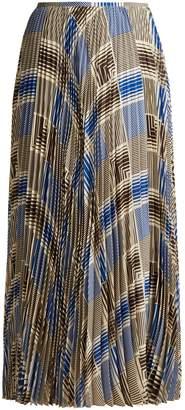 Joseph Abbot pleated silk-crepe midi skirt