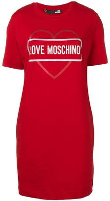 Love Moschino logo T-shirt dress