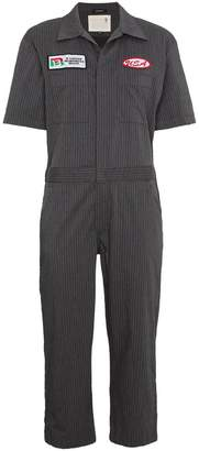 R 13 oversized stripe mechanic jumpsuit