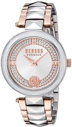 Versus By Versace Women's 'COVENT GARDEN CRYSTAL' Quartz Stainless Steel Casual Watch