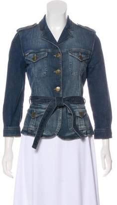 Burberry Denim Notch-Lapel Jacket