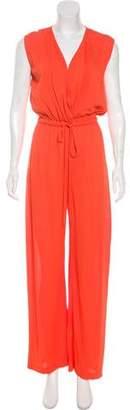 Halston Silk Sleeveless Wide-Leg Jumpsuit
