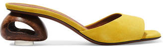 Neous Liparis Suede Mules - Yellow