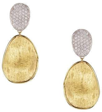Marco Bicego Diamond Lunaria Two Drop Small Earrings in 18K Gold