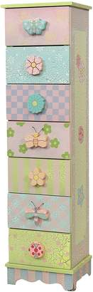 Fantasy Fields by Teamson Crackled Rose 7 Drawer Cabinet
