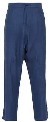 Denis Colomb Sarouel Silk Poplin Trousers - Mens - Navy