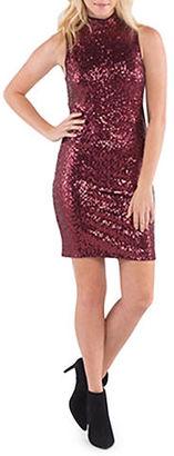 Kensie Dense Sequin Jersey Dress $99 thestylecure.com