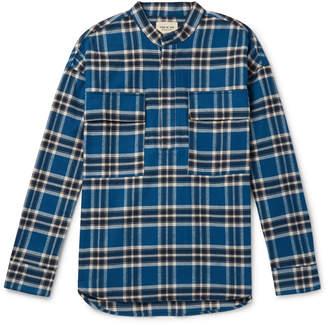 Fear Of God Grandad-Collar Checked Cotton-Flannel Shirt
