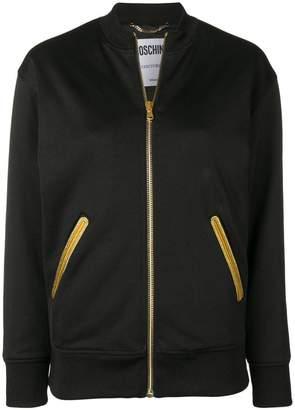 Moschino embroidered zip jacket