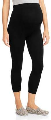 Labor of Love Maternity Over Belly Seamless Super Soft & Stretchy Capri Leggings-- Available in Plus Size