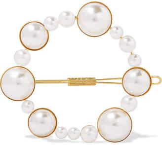 LELET NY - Gold-tone Faux Pearl Hairclip