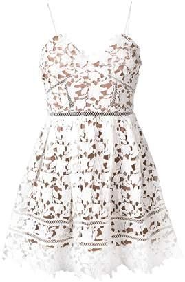 Self-Portrait floral lace mini dress