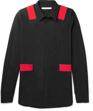 Givenchy Panelled Cotton-Poplin Shirt