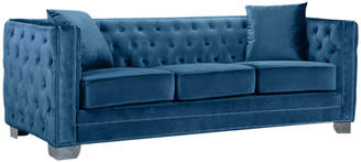 Verlaine Reese Light Blue Velvet Sofa