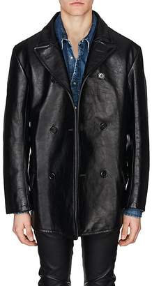 Maison Margiela Men's Leather Oversized Coat
