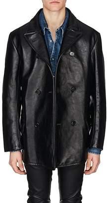 Maison Margiela Men's Leather Oversized Coat