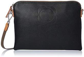 Orla Kiely Flower Stem Embossed Leather Travel Pouch