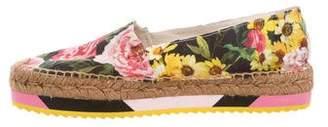 Dolce & Gabbana Floral Espadrille Flats