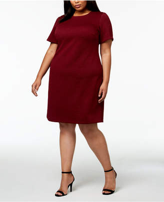 Calvin Klein Plus Size Embossed Floral Dress