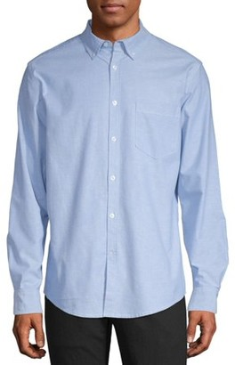 George Men's Long Sleeve Slim Fit Oxford Shirt, up to 3XL