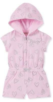 Juicy Couture Little Girl's Heart Cotton Blend Romper