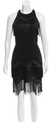 Whistles Sleeveless Fringe-Trimmed Dress w/ Tags $95 thestylecure.com