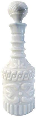 One Kings Lane Vintage Pale Blue Slag Glass Liquor Decanter - Osprey Blu