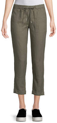 Saks Fifth Avenue Cropped Linen Pant