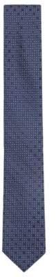 BOSS Hugo Italian-made patterned tie in silk jacquard One Size Open Blue